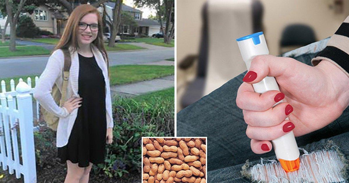 ec8db8eb84ac4 18.jpg?resize=1200,630 - Enfermera de escuela sugiere evitar el uso de EpiPen después de una reacción alérgica importante a los cacahuetes. Pone en peligro la vida de la adolescente.