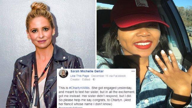 ec8db8eb84ac6 10 - Voulant annoncer ses fiançailles à sa soeur, elle se trompe de numéro et envoie un message à Sarah Michelle Gellar!