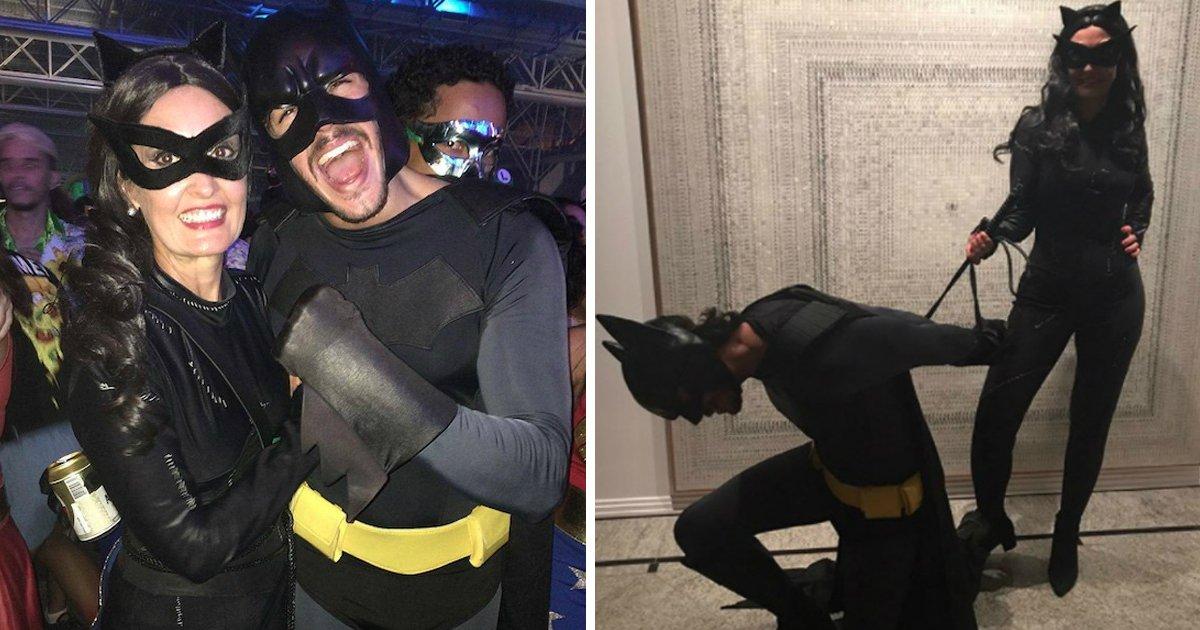 faifn.jpg?resize=300,169 - Fátima Bernardes e namorado se vestem de mulher-gato e Batman numa festa em Recife