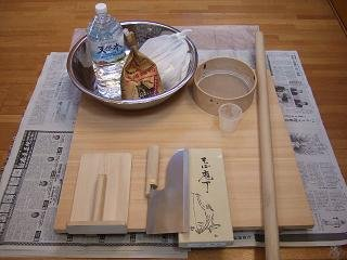 Image result for そば打ち 道具と材料