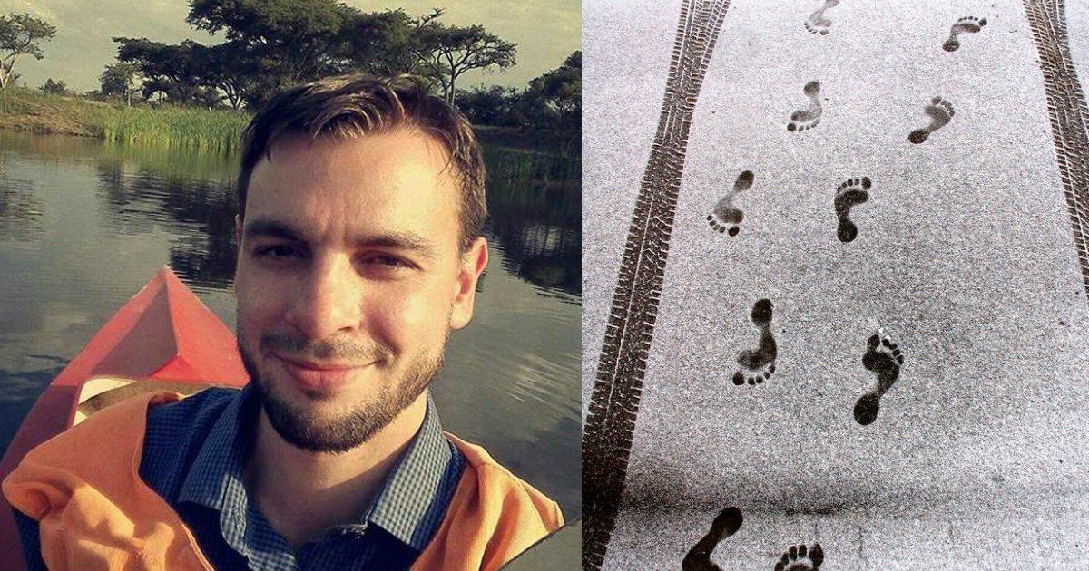 footprint 2.jpg?resize=648,365 - Off-Duty Doctor Follows A Bloody Trail