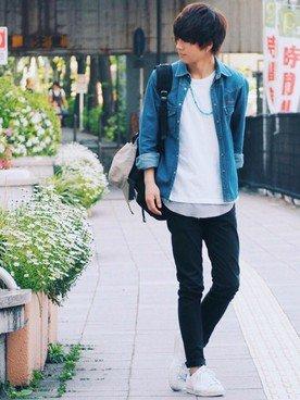 Image result for シャツとジーンズ 高校生