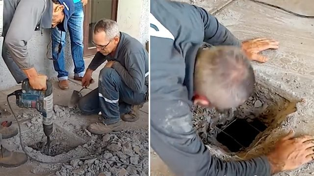 Man hears strange noises under concrete floor. When they tear up floor, they find the unthinkable
