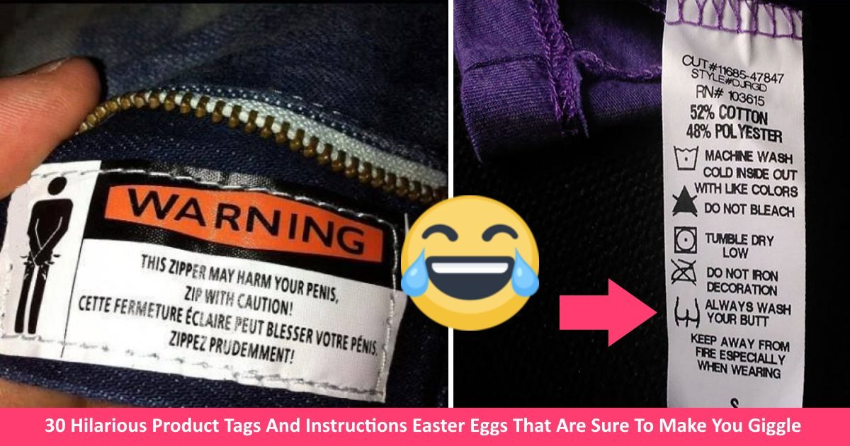 funnyproducttags - 30 Hilarious Product Tags And Instructions Easter Eggs That Are Sure To Make You Giggle