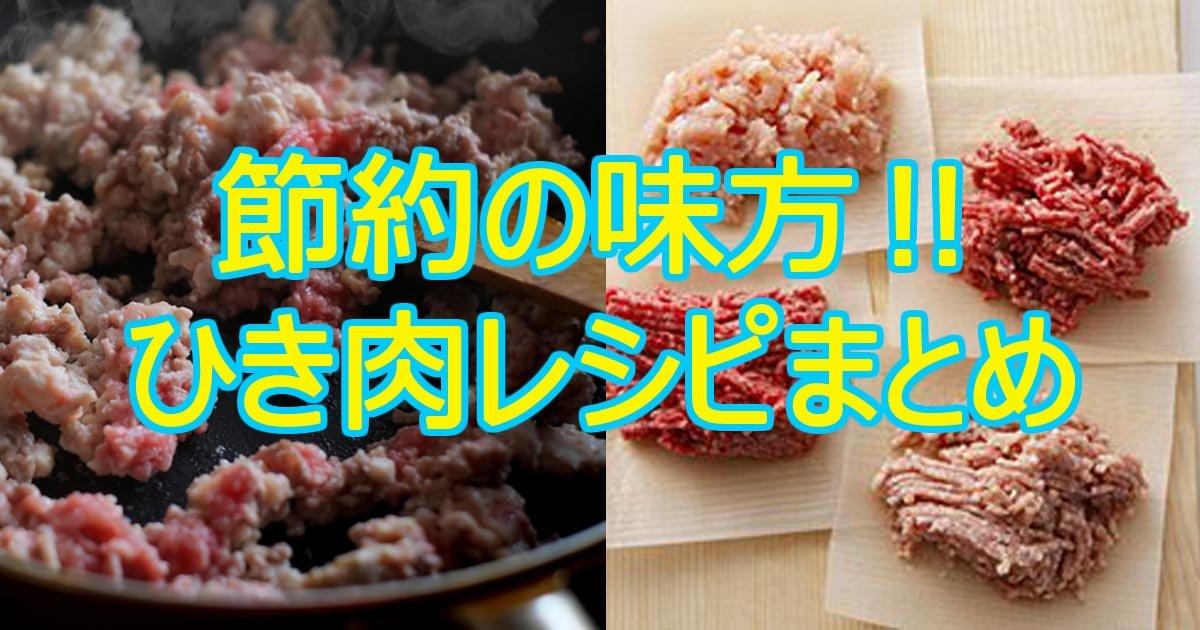 hikinikureshipi.jpg?resize=1200,630 - 節約上手になろう!ひき肉を使った節約レシピまとめ
