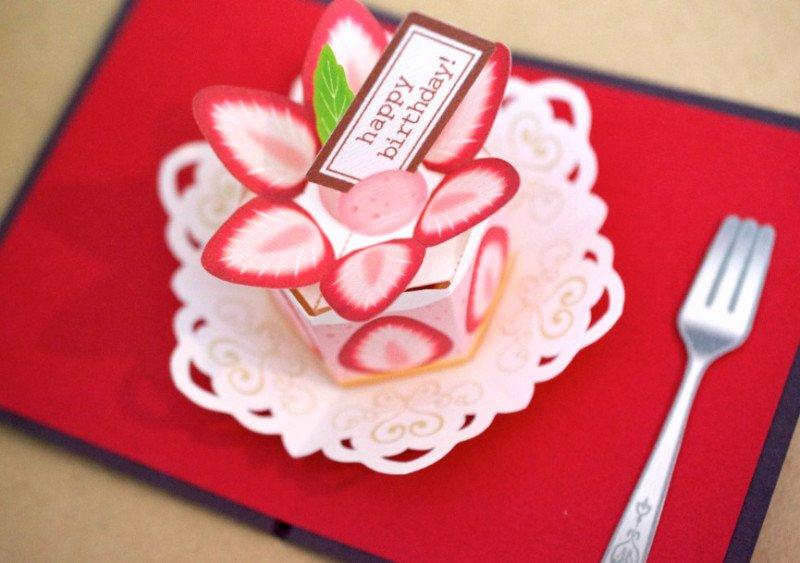 飛び出すカード 苺のショートケーキ에 대한 이미지 검색결과