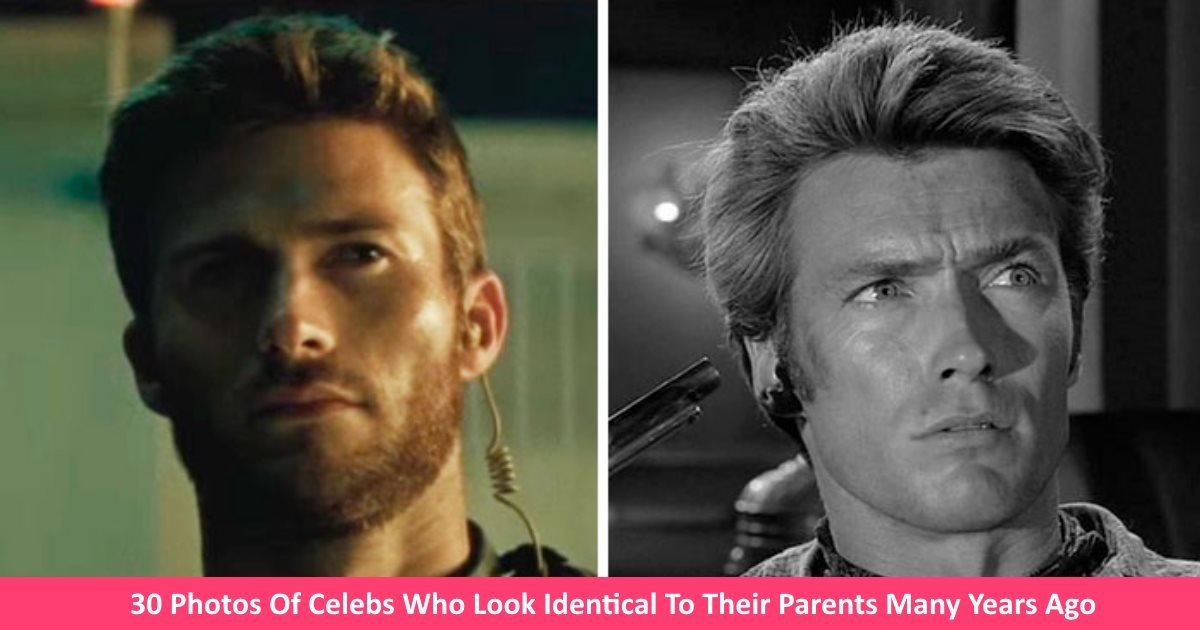identicalcelebs.jpg?resize=300,169 - 30 Photos Of Celebs Who Look Identical To Their Parents Many Years Ago