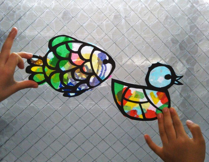 img 5a65a28c38581 - ステンドグラス風のインテリアフレームを作れるガラス絵の具
