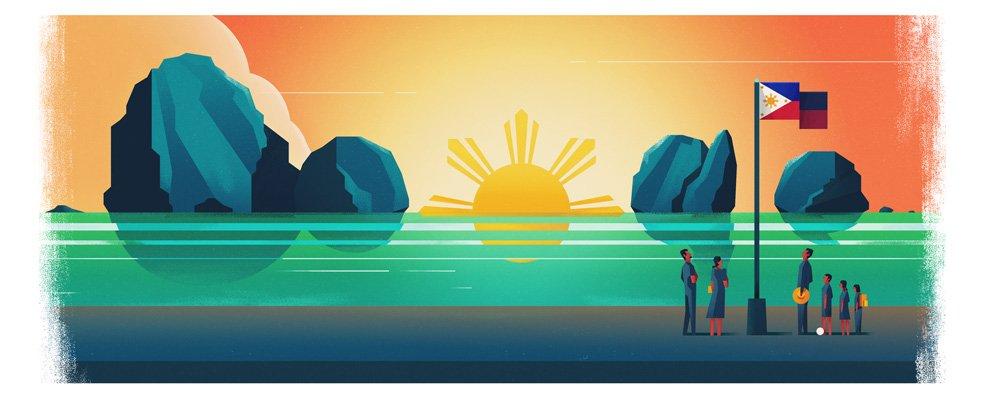 img 5a6b6f2fba424.png?resize=1200,630 - 状況によってデザインが変わる!?フィリピンの国旗のウラ話
