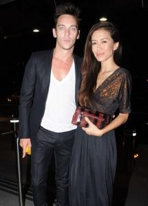 Barretstown 20th Anniversary Gala Ball at The Convention Centre Featuring: Jonathan Rhys Meyers,Mara Lane Where: Dublin, Ireland When: 27 Sep 2014 Credit: WENN.com **Not available for publication in Irish Tabloids, Irish magazines.**