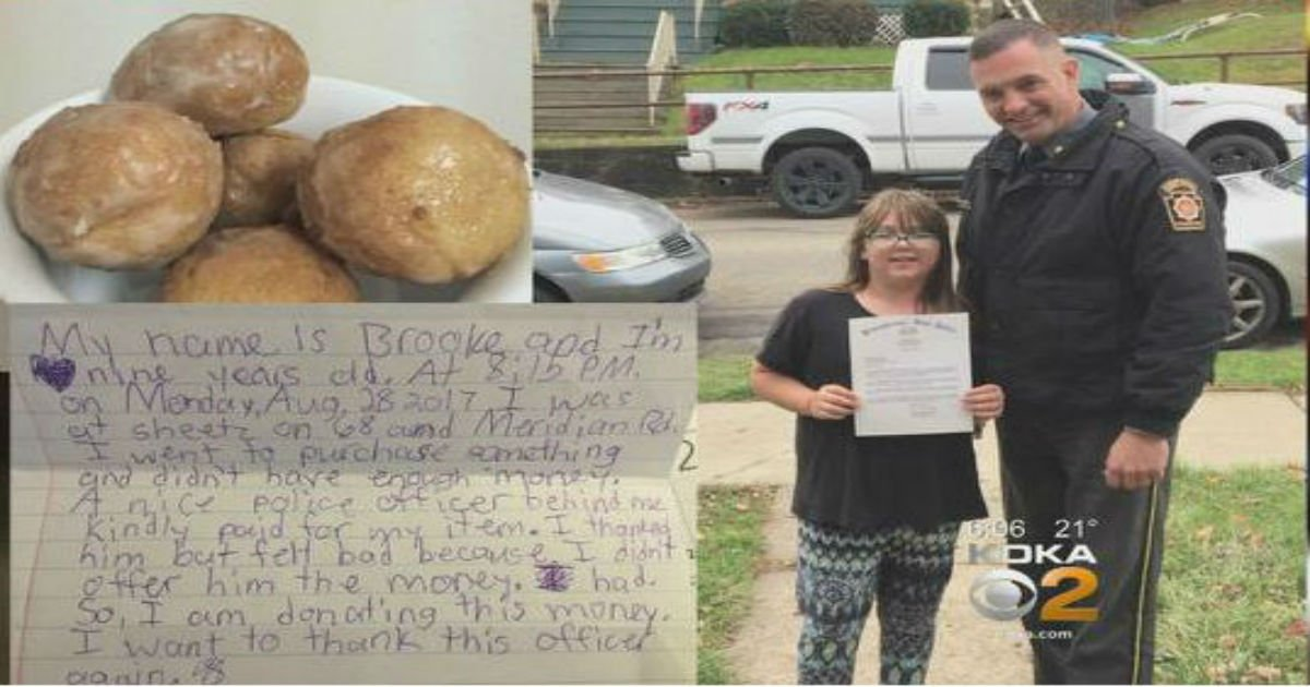 kindbrooke 1 - 8-Year-Old Girl Impresses The State Police By Her Charitable Instincts