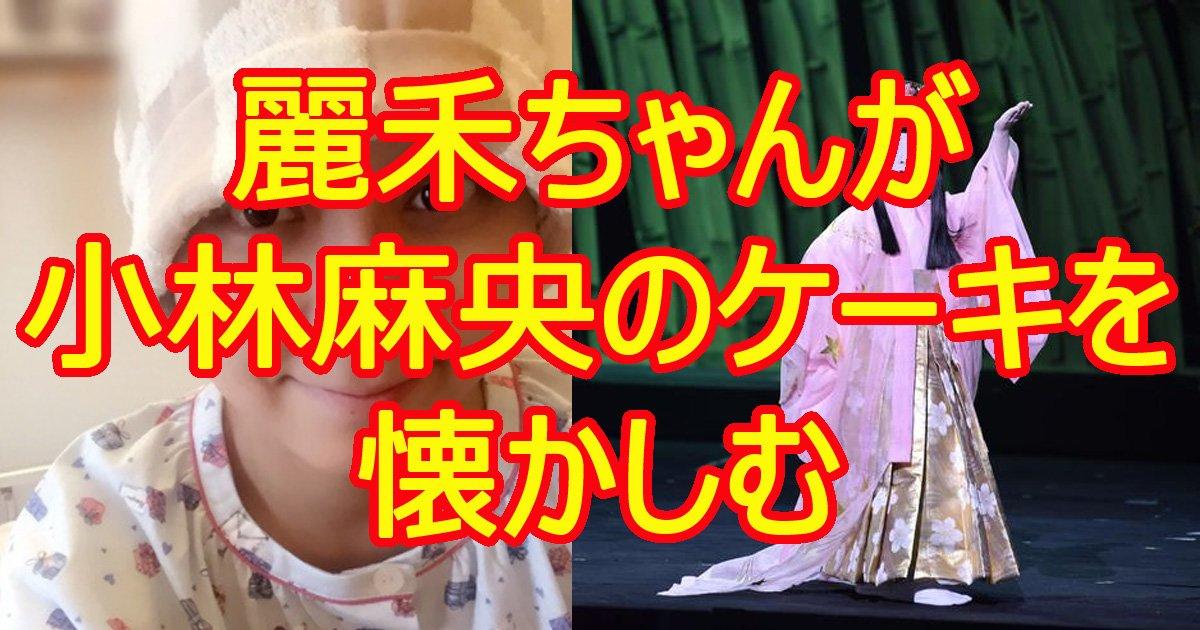 kobayashimaocecake.jpg?resize=1200,630 - 市川海老蔵の娘・麗禾ちゃんが母親のケーキを懐かしむ