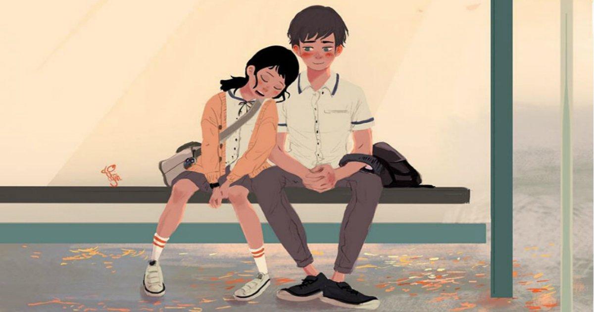 love illustrations lynn choi 1 5a3cb178eba84  880 - 사랑이 주는 '사소하지만 확실한 행복'을 그린 일러스트 7선