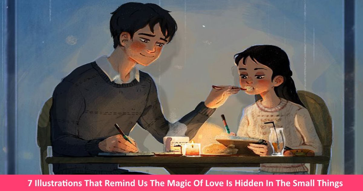 loveillustrations - 7 Illustrations That Remind Us The Magic Of Love Is Hidden In The Small Things