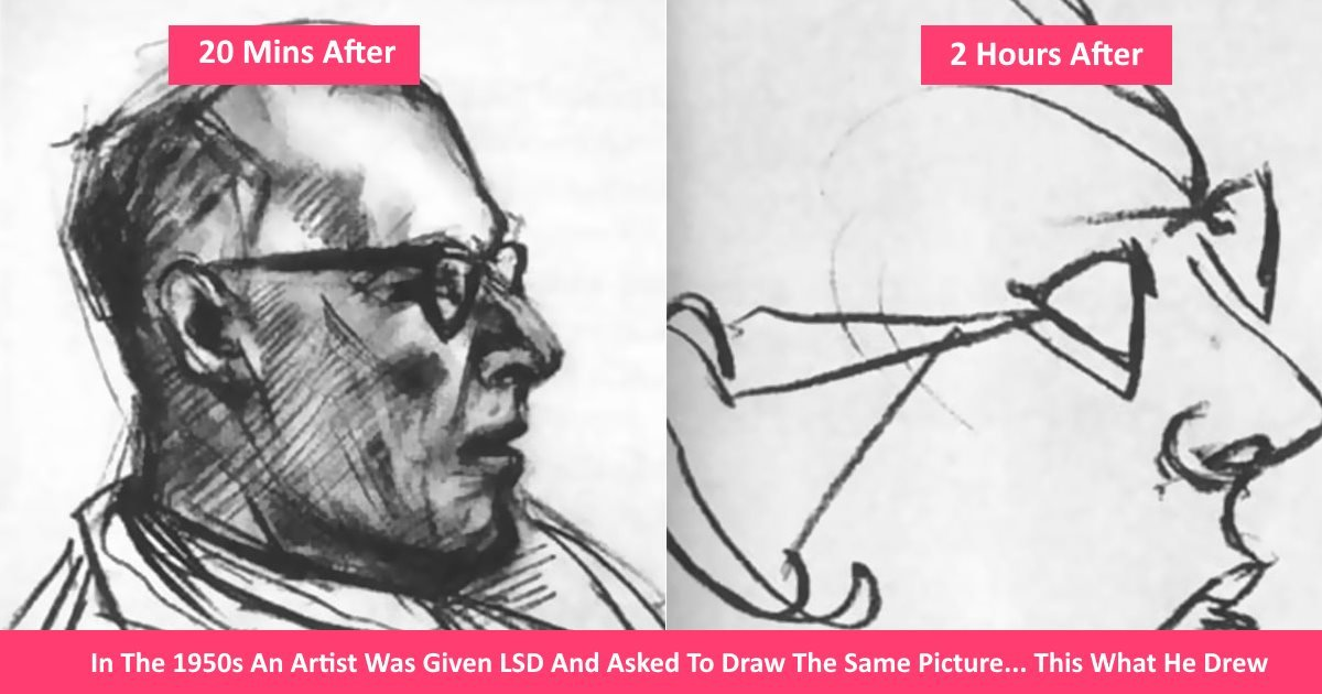 lsddrawings - In The 1950s An Artist Was Given LSD And Asked To Draw The Same Picture... This What He Drew