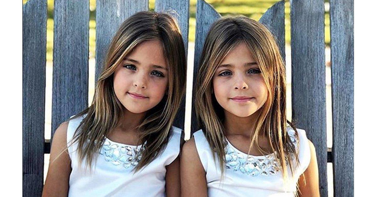 """mainphoto jumelles - Ces jumelles de 7 ans sont considérées comme """"les plus belles du monde"""""""