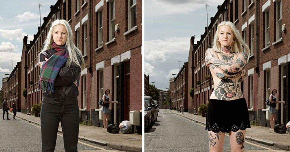 mainphoto tatoo.jpg?resize=300,169 - Il photographie des personnes avec et sans leurs vêtements, et révèle d'incroyables corps tatoués.