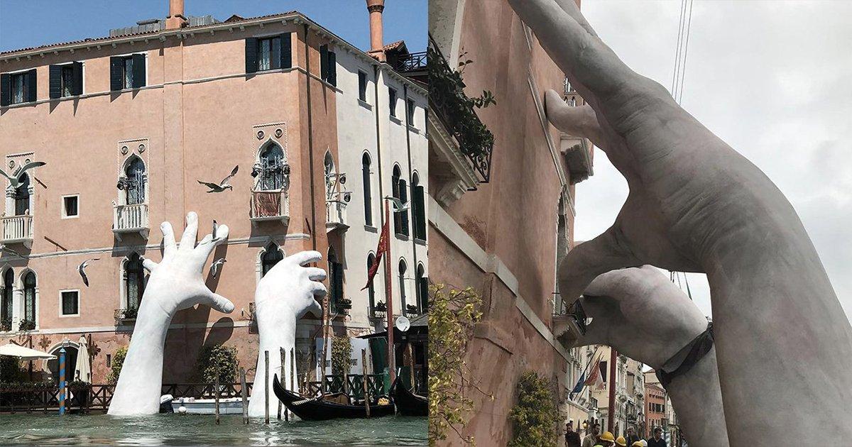 mainphoto venise - Cette sculpture incroyable nous appelle à lutter contre le réchauffement climatique