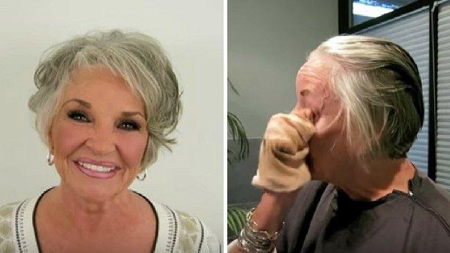 makeup 1.jpg?resize=1200,630 - [Vidéo] A 78 ans, elle se démaquille en public pour la première fois!