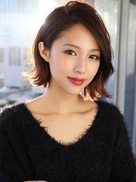 marugao osusume hair style B014432582 271 361 - 丸顔でも大丈夫!小顔に見えるおすすめヘアスタイル