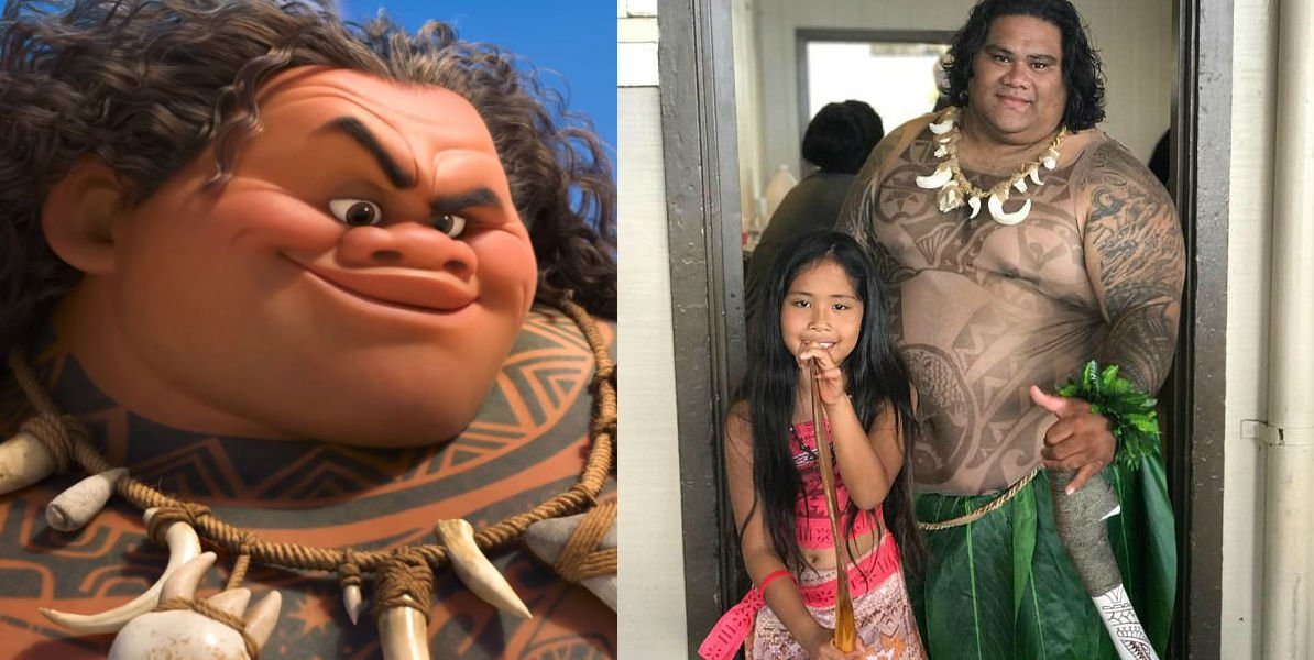 maui 1 - Little Girls Find A Maui Of Moana At Costco!