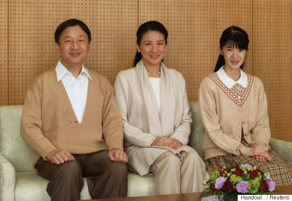 In this December 4, 2016 photo released by the Imperial Household Agency of Japan, Crown Princess Masako (C) poses for a family photo with Crown Prince Naruhito and their daughter Princess Aiko at Tugu Palace in Tokyo. Masako celebrated her 53rd birthday December 9.  Imperial Household Agency of Japan/Handout via REUTERS ATTENTION EDITORS - THIS PICTURE WAS PROVIDED BY A THIRD PARTY. FOR EDITORIAL USE ONLY. NOT FOR SALE FOR MARKETING OR ADVERTISING CAMPAIGNS.