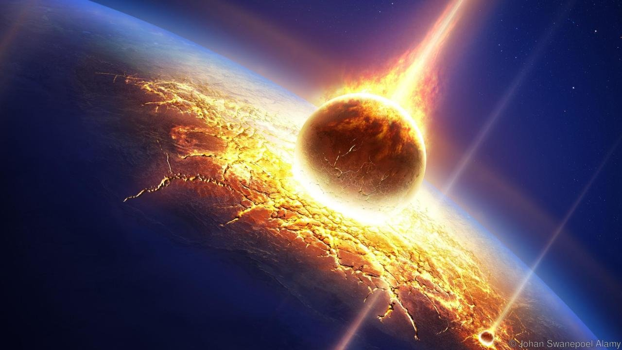 D4T10A Earth in a meteor shower (Elements of this image furnished by NASA- earthmap for render from http://visibleearth.nasa.gov)
