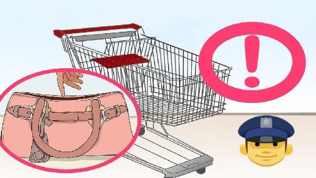 policewarningthieves 1 - Siga essa dica importante para que seus pertences não sejam roubados no supermercado!