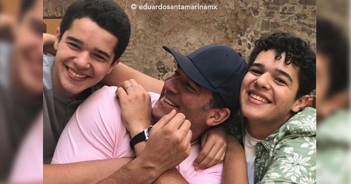 portada 14.jpg?resize=1200,630 - El actor mexicano Eduardo Santamarina presume a sus hijos gemelos de 17 años por Instagram