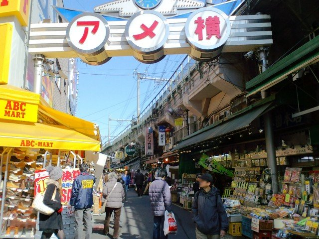 Image result for アメ横商店街