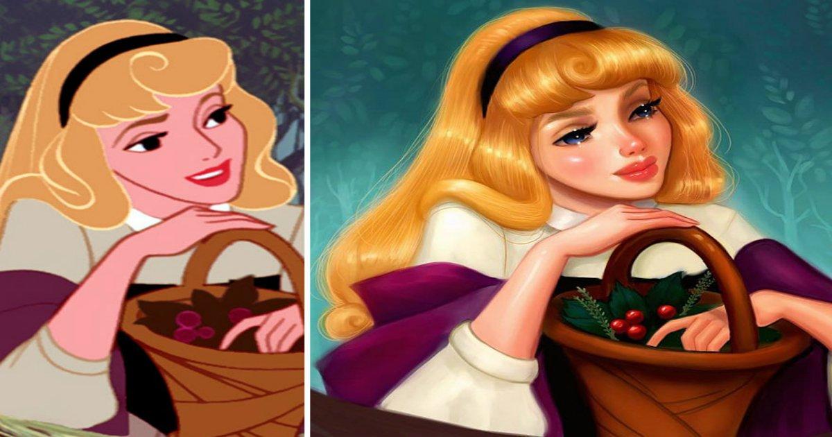 repainted disney princesses isabelle staub 6 58f5b4fdafe76  880.jpg?resize=412,232 - 유명한 만화 캐릭터에 '숨'을 불어 넣는 일러스트레이터의 작품 10
