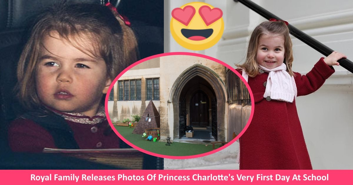 royalfirstdayschool - Royal Family Releases Photos Of Princess Charlotte's Very First Day At School - Too Cute!