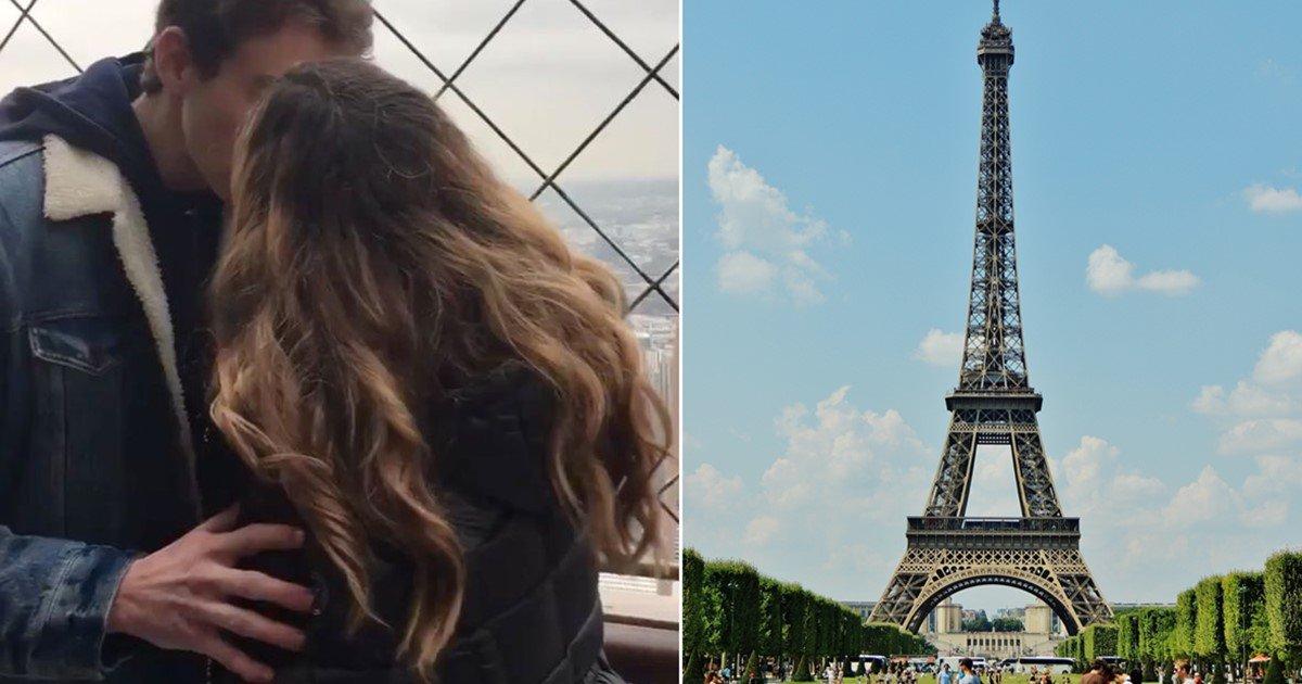 "s 55 - ""저랑 에펠탑에서 키스한 남성을 찾습니다"""