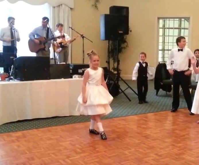 screen shot 2018 01 23 at 4 31 26 pm - Nine-Year-Old Busts Out Irish Dancing Moves At A Wedding And People Can't Get Over The Cuteness!