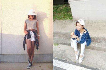 ストリートファッションのレディースコーデ 帽子에 대한 이미지 검색결과