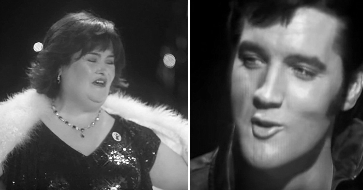 """susanelvis - After 40 Years Of His Death, Elvis Presley's Voice Comes Back To Life With The Mashup Of """"O Come, All Ye Faithful"""" With Susan Boyle"""