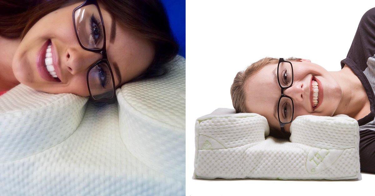 thumbnail5eo - Tem dificuldade para ler de lado na cama por conta do óculos? Esse travesseiro promete acabar com seus problemas!