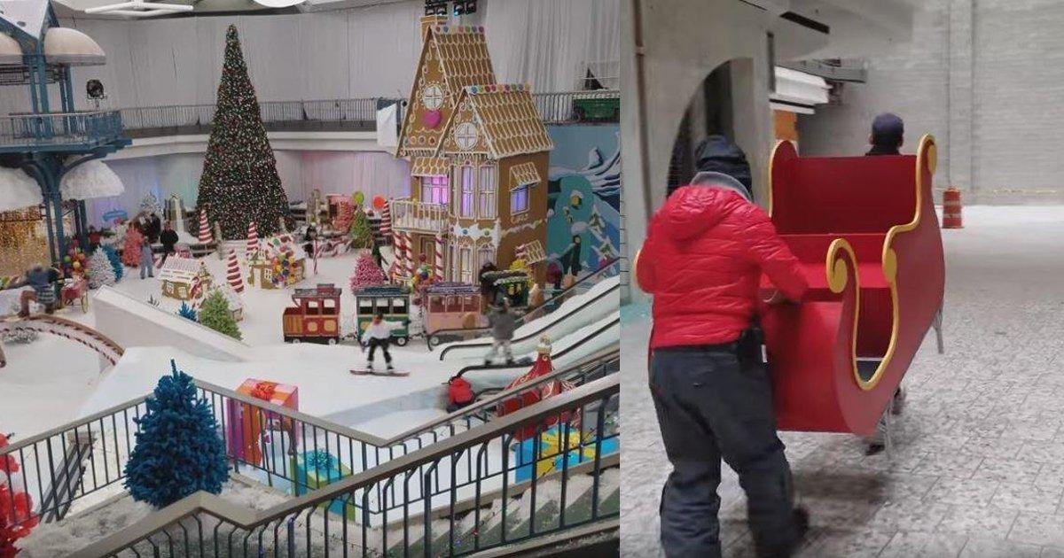 thumbnail5g.png?resize=1200,630 - Shopping abandonado é transformado em parque de diversões na neve para crianças carentes