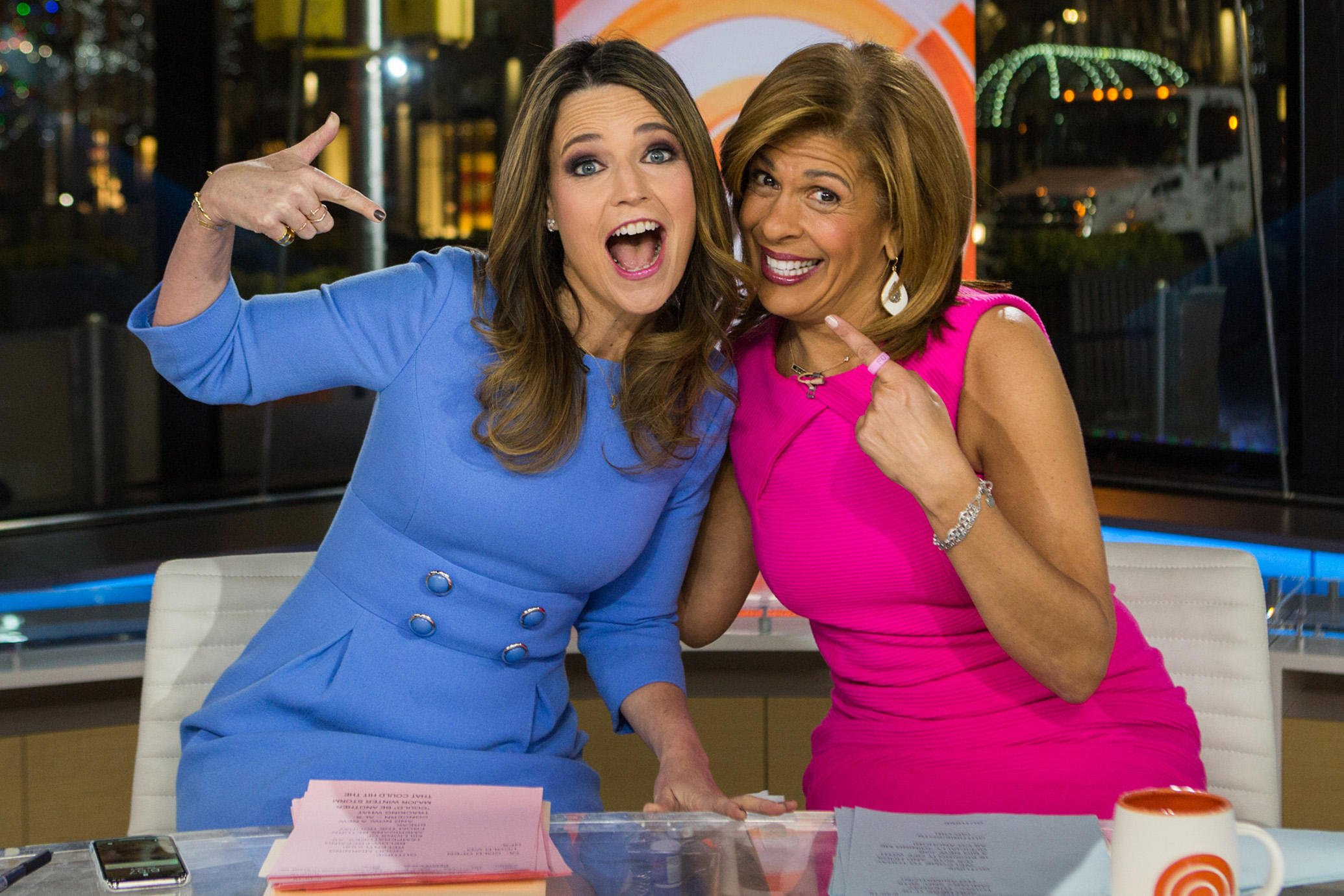 TODAY -- Pictured: Savannah Guthrie and Hoda Kotb on Tuesday, January 2, 2018 -- (Photo by: Nathan Congleton/NBC)