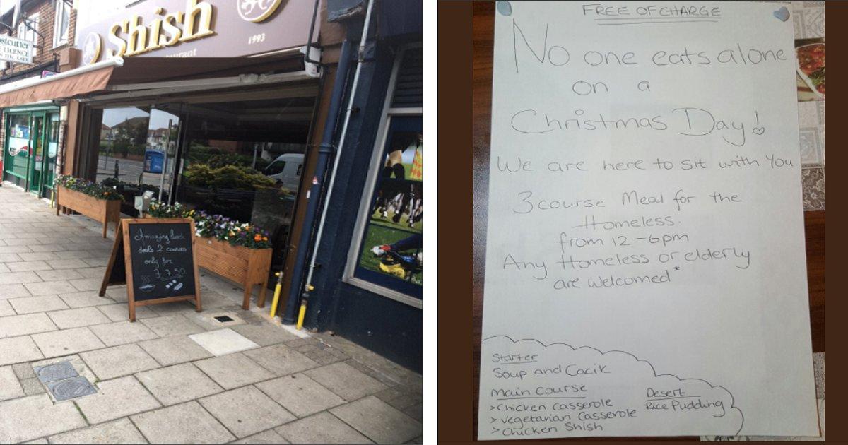 turkishrestaurant 1 - Muslim Restaurant Owner Posts Sign On Christmas Day