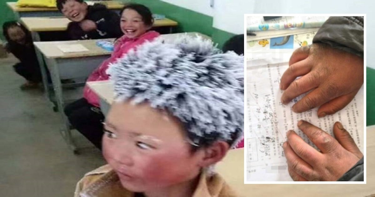 wang2 1 - 8-Year-Old Boy Arrives At School with Frostbites And Icicles After Walking 2.7 Miles In Sub-Zero Temperatures