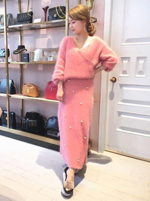 清楚な服 ニットワンピ ピンク에 대한 이미지 검색결과