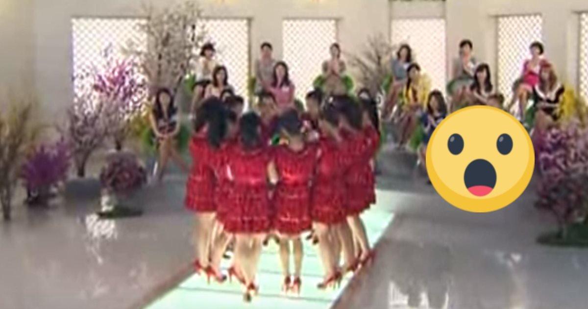 womenindresses.jpg?resize=300,169 - Des femmes en robes rouges s'alignent, mais lorsqu'elles se retournent, le public n'en revient pas
