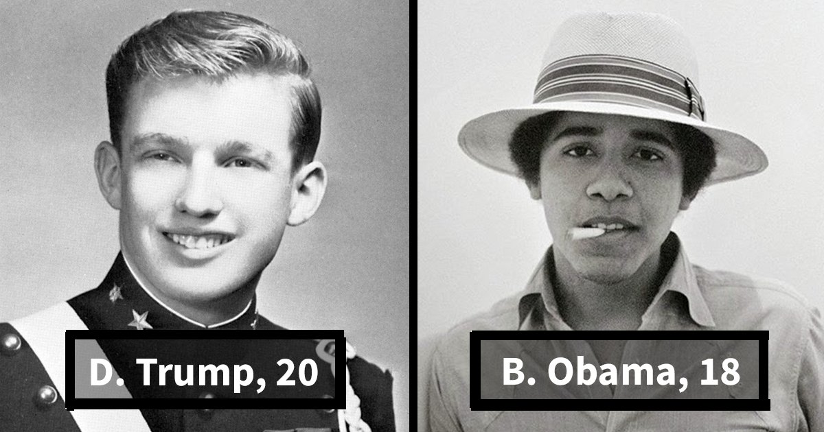 young us presidents fb.png?resize=648,365 - US Presidents At Their Tender Age, You Won't Believe It