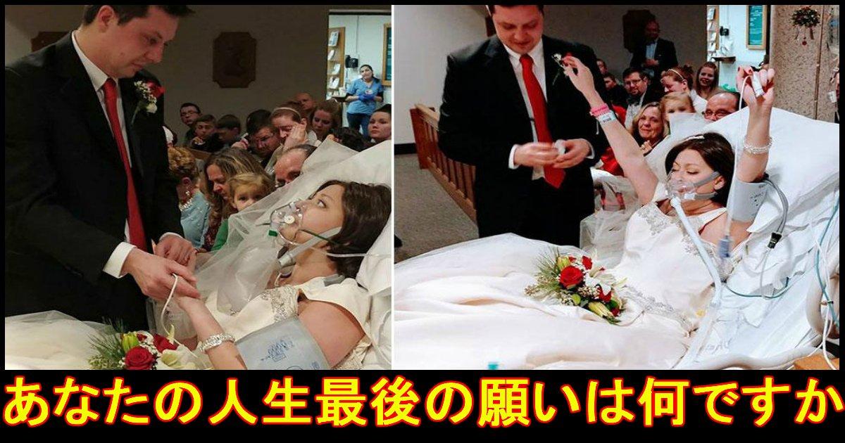 1 240.jpg?resize=648,365 - 最後の願いとは?死ぬ18時間前に結婚式を行った花嫁。