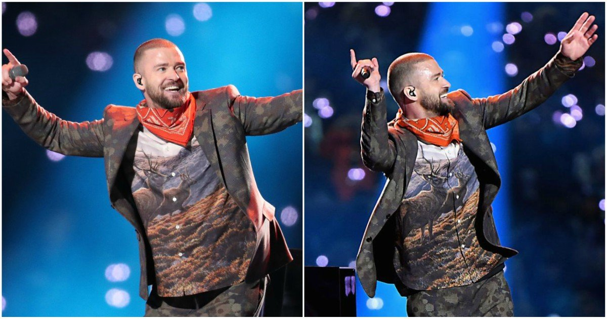 1 67 - Justin Timberlake et sa chemise Élan ont beaucoup fait rire les médias sociaux au Super Bowl
