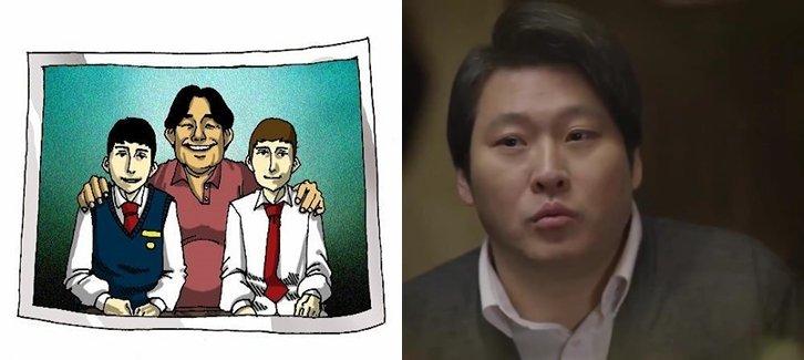 (좌) 네이버 웹툰 '죽음에 관하여' / (우) tvN '응답하라1988'