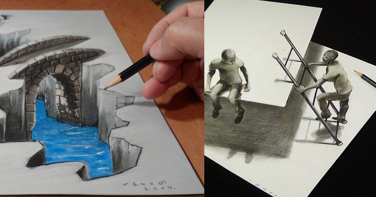 Source: https://www.youtube.com/watch?v=ulWEof_TfA4 http://twenty.hueandi.co/3-d-drawings/