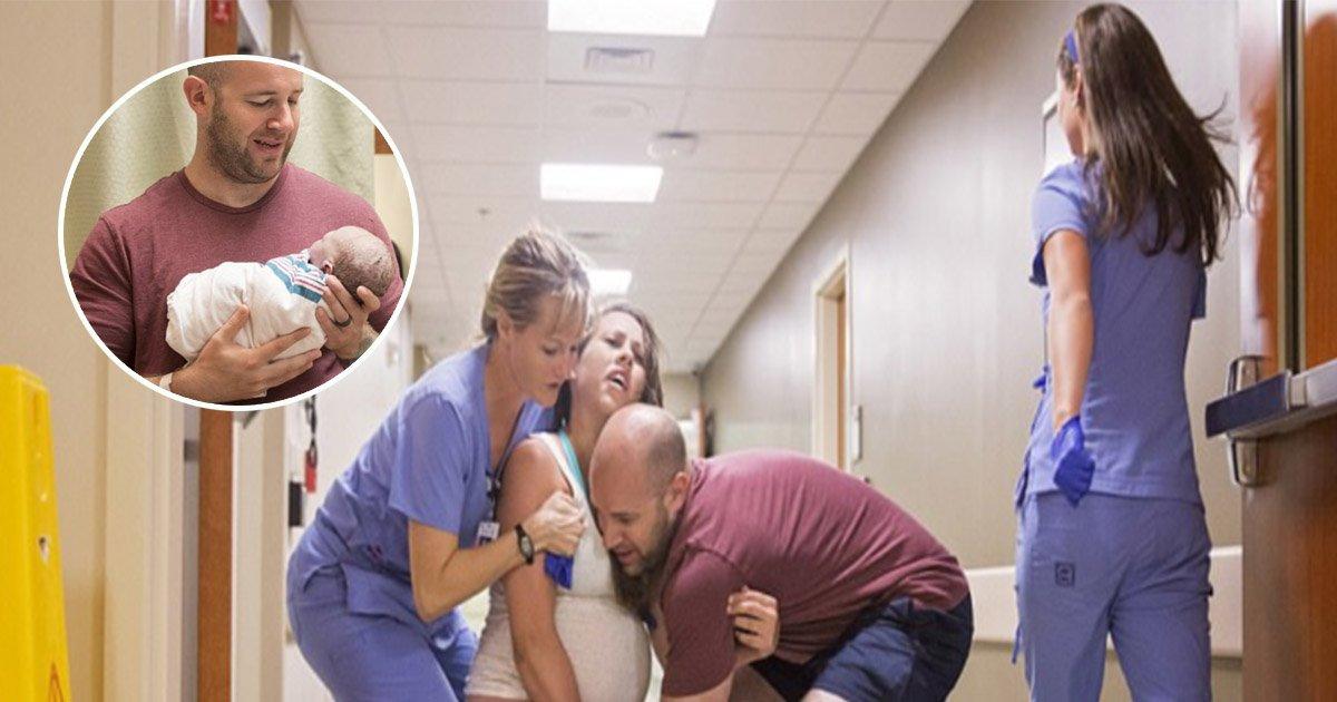 5 ec8db8eb84ac.jpg?resize=1200,630 - Mulher dá à luz no corredor depois de quase não conseguir chegar a tempo no hospital. As fotos são de tirar o fôlego!