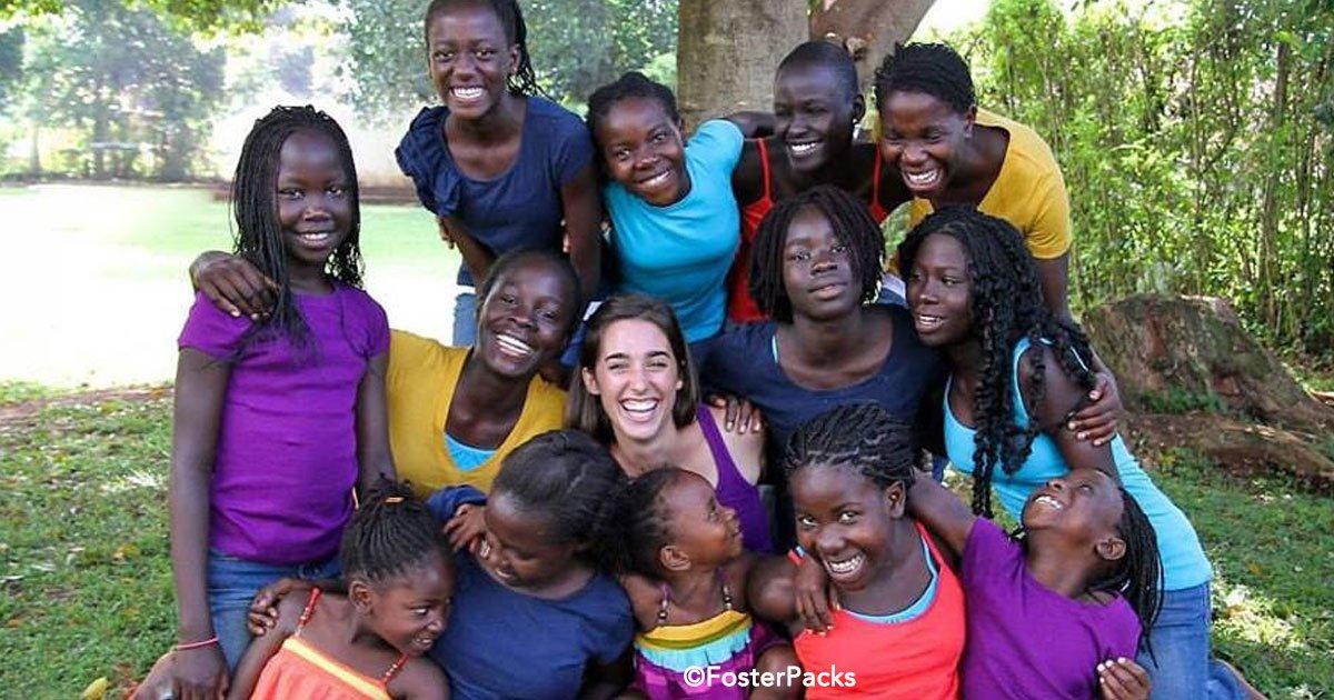 59 1.jpg?resize=648,365 - Chica de 18 años adoptó a 13 niñas en Uganda